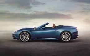 Picture Ferrari, Blue, Ferrari, California T, California T, Side View