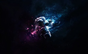 Picture space, astronaut, outdoor