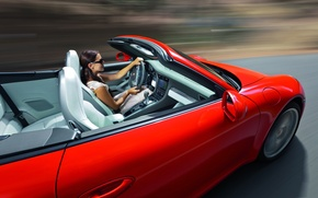 Picture speed, Porsche, convertible