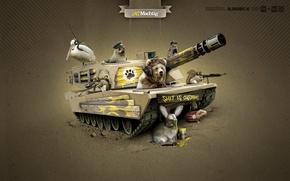 Wallpaper tank, Animals, noisia