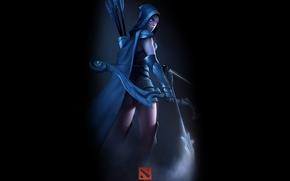 Picture girl, bow, art, elf, games, Defense of the Ancients, Dota 2, Drow Ranger
