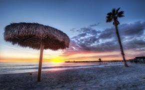 Picture beach, sunset, Palma, shore