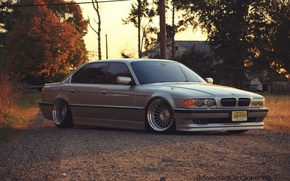 Picture bmw, BMW, wheels, jdm, tuning, germany, low, e38, stance, alpine, 740i, E38, 730i