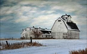 Picture field, landscape, style, background, farm