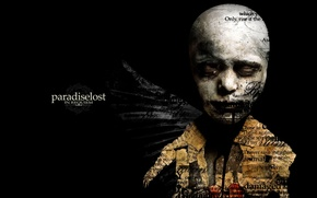 Picture BACKGROUND, BLACK, TEXT, FACE, GROUP, PARADISE LOST