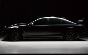 Picture black, tuning, Mercedes, mercedes s500