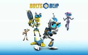 Picture Robots, Bolt and Blip, bolts & blip