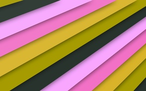 Wallpaper line, yellow, pink, texture, material