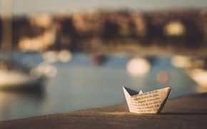 Picture paper, background, boat