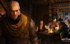 Picture the Witcher, scar, witcher, tavern, Geralt of Rivia, White Wolf, The Witcher 3: Wild Hunt, …