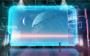 Picture space, planet, the atmosphere, screen, attraction, virtual universe editor