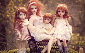 Picture toys, doll, family