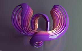 Wallpaper plastic, curves