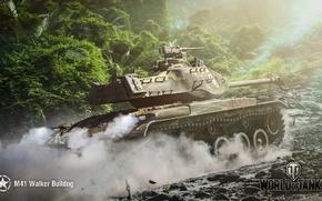 Picture WoT, World of tanks, World of Tanks, Wargaming, M41 Walker Bulldog, American tank