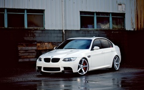 Picture BMW, white, sedan, vossen, E90