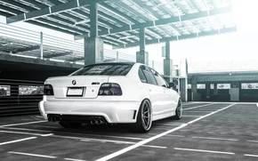Picture BMW, white, sedan, tuning, 5 series, bmw m5, e39