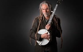 Picture portrait, musician, Studio, banjo, banjo