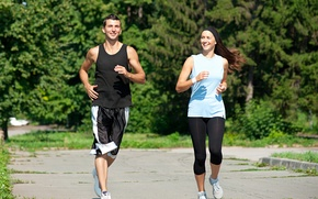 Picture mood, sport, woman, running, male, health, couple, running