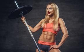 Wallpaper female, pose, bodybuilder