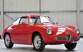 Picture beauty, classic, Alfa Romeo, sports car, Alfa Romeo Giulietta SZ 1960