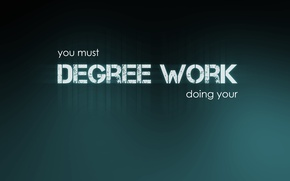 Picture background, must, Degree work