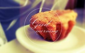 Picture Minimalism, Round, Morning, Style, Good morning, Good morning, Cupcake