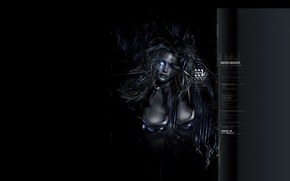 Picture girl, dark, art