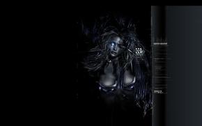 Wallpaper girl, dark, art