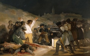 Picture picture, genre, Francisco Goya, The Shooting Of The Rebels Of 3 May 1808