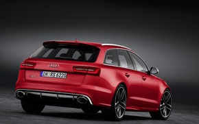 Picture Audi, Audi, red car, RS6