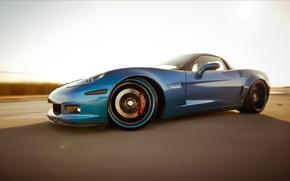 Wallpaper corvette, chevrolet, blue, Z06