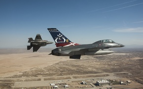 Picture fighters, flight, F-16, Fighting Falcon, Lightning II, F-35