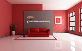 Picture style, room, sofa, interior, minimalism