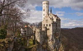 Picture mountains, photo, castle, Germany, Lichtenstein, Castle