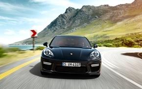 Wallpaper 2015, Porsche, mountains, Panamera, Porsche, Panamera