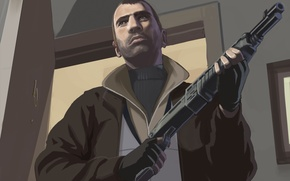 Picture GTA, Rockstar, Game, Grand Theft Auto IV, Niko Bellic, Niko Bellic