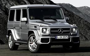 Wallpaper mountains, Mercedes-Benz, jeep, SUV, Mercedes, AMG, the front, g, Gelandewagen, G63