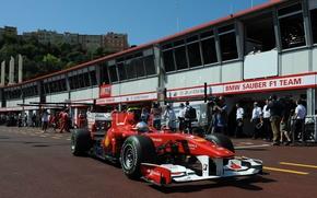 Wallpaper Formula 1, Ferrari, Felipe Massa, boxes, Monte-Carlo 2010