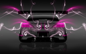 Wallpaper Pink, Smoke, Nissan, S15, Silvia, Nissan, Photoshop, Neon, Smoke, Tuning, Back, JDM, Sylvia, Effects, el ...