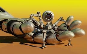 Picture macro, mechanism, robot, hand, camera, blur, robot, Android, palm, android, mini, hi-tech, lifeguard, bokeh, scout, …