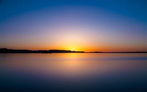 Picture twilight, sunset, lake, dusk, reflection, silhouette, mirror, lakeshore