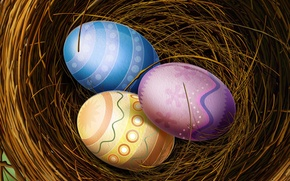 Wallpaper color, Easter, Eggs, socket