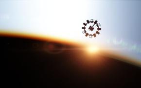 Wallpaper planet, the sky, star, station, planet, rassie, dawnrazor, station, star, sky
