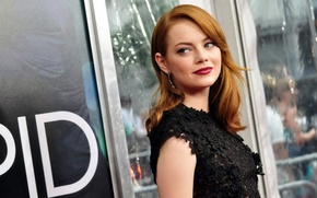 Picture look, actress, red, Emma Stone