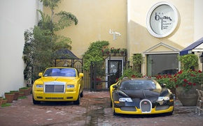 Wallpaper Bugatti, veyron, tuning, coupe, rolls-royce, phantom, drophead