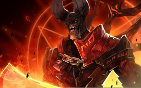 Picture darkness, fire, the demon, dota 2, doom, moba, Lucifer