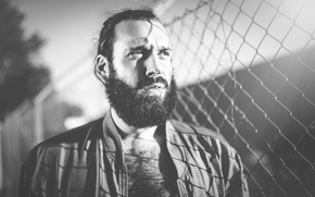 Picture eyes, the sun, mesh, shadows, male, beard, jackets