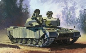 Picture figure, art, tank, combat, Challenger 2, years, Challenger 2, operation, troops, main, UK, 1995., land