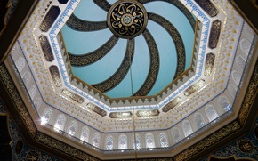 Picture background, widescreen, Wallpaper, stained glass, mosque, wallpaper, the dome, widescreen, background, beautiful Wallpaper, the Wallpapers, ...