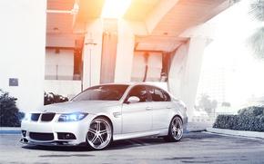 Picture bridge, BMW, silver, BMW, sedan, Blik, Sedan, E90, silvery, 3 Series